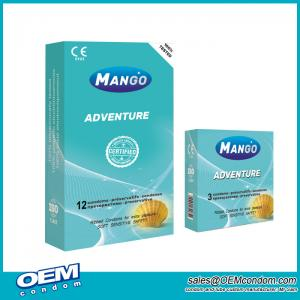 Mango Adventure Ribbed Condom